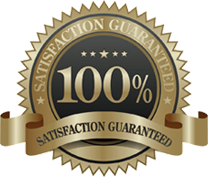 A satisfaction guarantee badge.