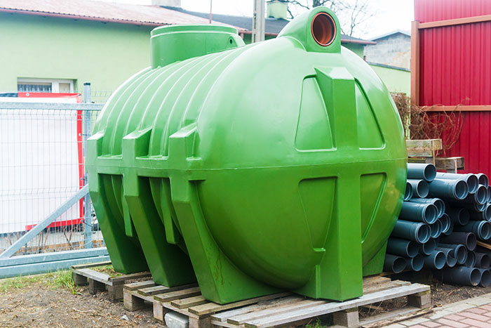 image showing a huge septic tank