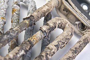 corroded electric heater pipes
